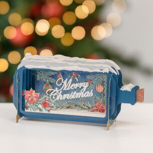 'Merry Christmas' Message In A Bottle Christmas Card
