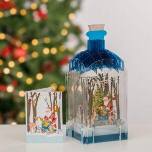 Santa Claus 3D Christmas Keepsake Art Bottle with Mini Card