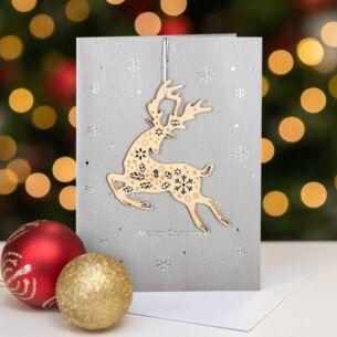 Keepsake Reindeer Christmas Card