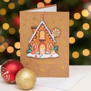 Gingerbread House Keepsake Christmas Card