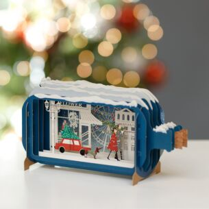 Collecting the Tree Message in a Bottle Christmas Card