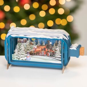 Christmas Train Message In A Bottle Christmas Card