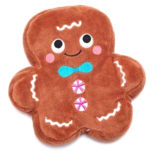 Gingerbread Man Mini Flat Microwavable Hottie