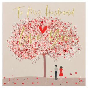 'Love You' Husband Valentine's Day Card