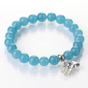 Carrie Elspeth Blue Sponge Quartz Gemstone Heart Bracelet