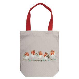 'Jolly Robin' Canvas Tote Bag