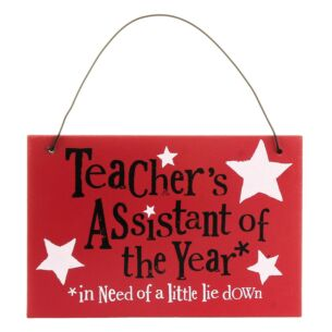 Teacher's Assistant of the Year Hanging Sign