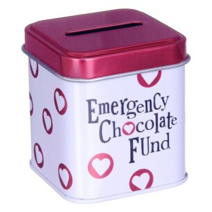 The Bright Side Emergency Chocolate Fund Cash Stash Tin