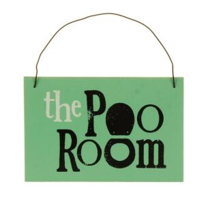 Teal Poo Room Sign