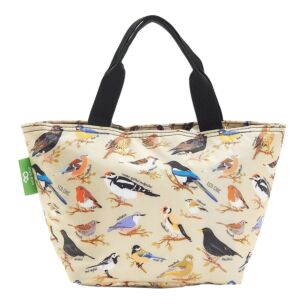Eco Chic Green Wild Birds Insulated Lunch Bag
