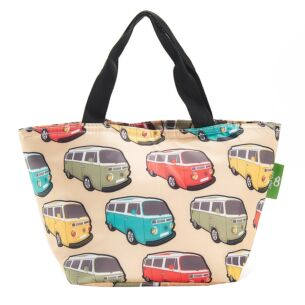 Eco Chic Beige Campervans Insulated Lunch Bag