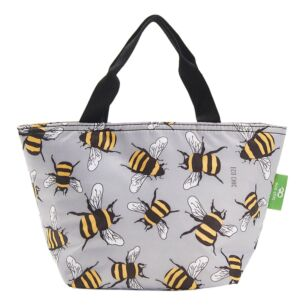 Grey Bumblebees Recycled Insulated Lunch Bag