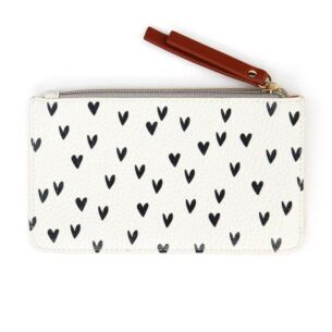Mini Hearts Zip Top Purse