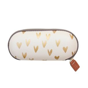 Caroline Gardner Metallic Hearts Glasses Case