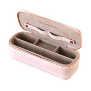 Caroline Gardner Blush Pink Slim Jewellery Box