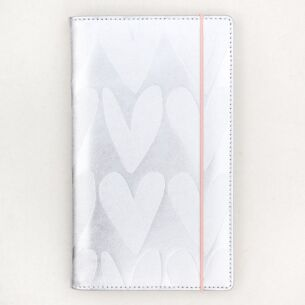 Caroline Gardner Silver Hearts Travel Wallet