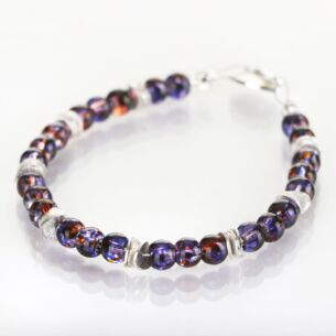 Purple Splashes Bracelet