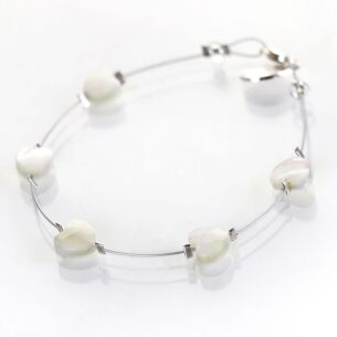 Shell Hearts Spaced Bracelet