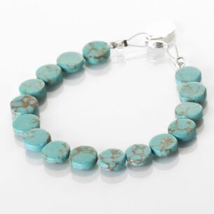 Carrie Elspeth Turquoise Mosaic Coins Bracelet
