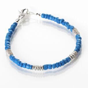 Carrie Elspeth Blue Aztec Bracelet