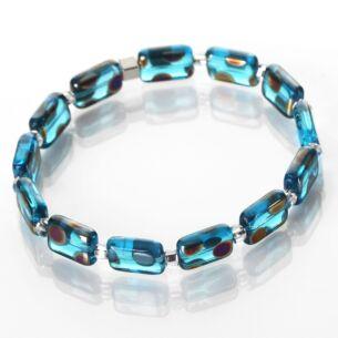 Carrie Elspeth Turquoise Dotty Rectangle Bracelet