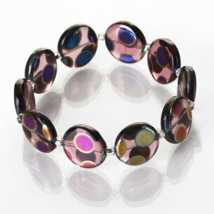 Purple Dotty Puddles Bracelet