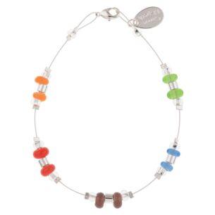 Rainbow Rings and Barrels Bracelet