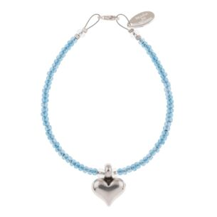 Blue Heart Strings Bracelet