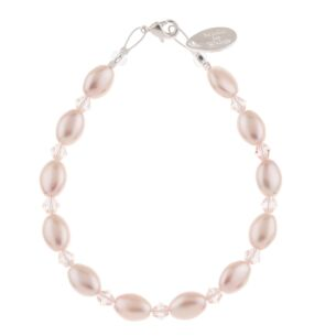 Blush Pearl & Crystal Bridal Bracelet