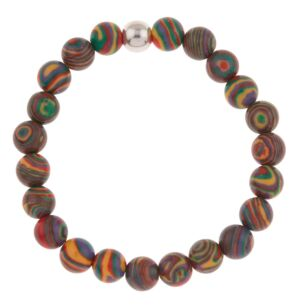 Rainbow Zebra Marbled Bracelet