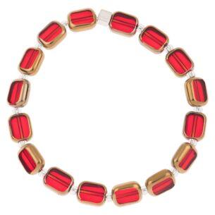 Red Golden Edges Bracelet