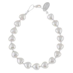 Ice Pearl Hearts Bracelet