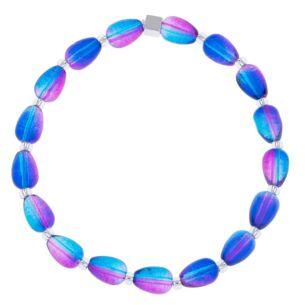 Blue/Pink Peardrops Bracelet
