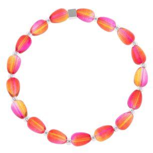 Orange/Pink Peardrops Bracelet