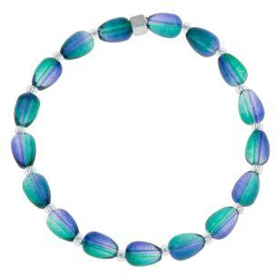 Purple/Green Peardrops Bracelet