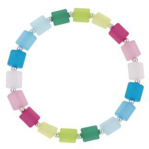 Multi Coloured Ellipses Bracelet