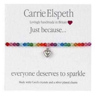 Everyone Deserves To Sparkle Rainbow Sentiment Bracelet