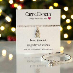 Gingerbread Wishes Sentiment Bracelet