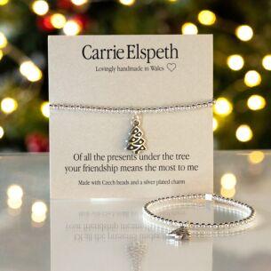 Presents Under the Tree Christmas Sentiment Bracelet