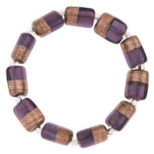 Purple & Copper Barrels Bracelet