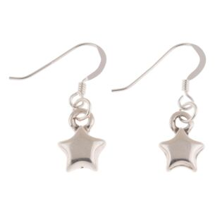 Silver Plated Star Earrings