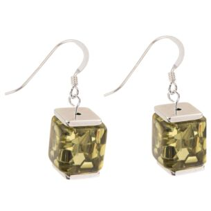 Olive Flecks Earrings
