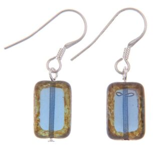 Picasso Rainbow Blue Earrings