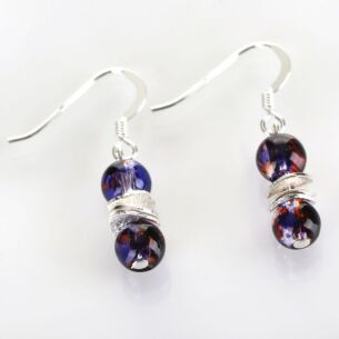 Purple Splashes Earrings
