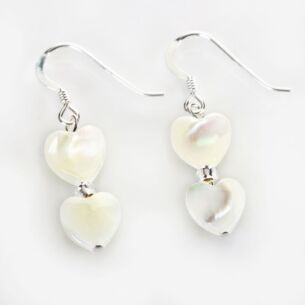 Shell Hearts Duo Earrings