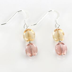 Pink Champagne Bohemian Bridal Earrings