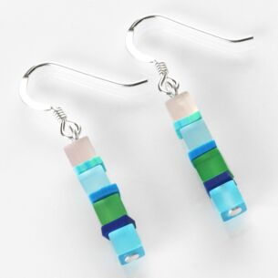 Carrie Elspeth Day-time Cats Eye Blue Earrings