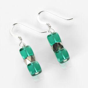 Carrie Elspeth Teal Sparkle Earrings
