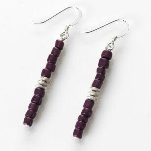 Purple Aztec Earrings