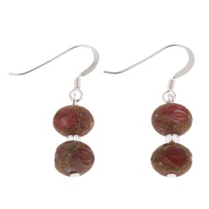 Red Meteor Earrings